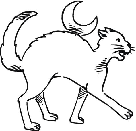 coloring page halloween cat free halloween coloring pages
