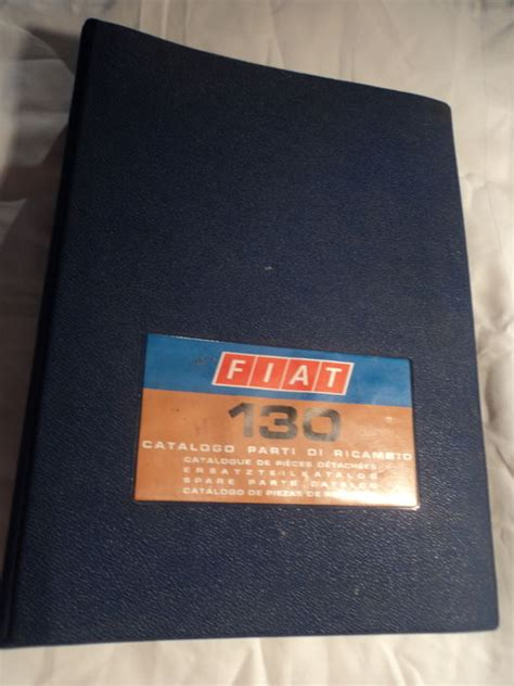 original fiat parts original fiat spare parts catalogue typ 130 1969