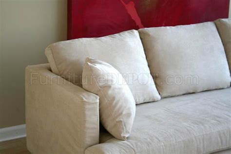 contemporary sectional sofa in white microfiber