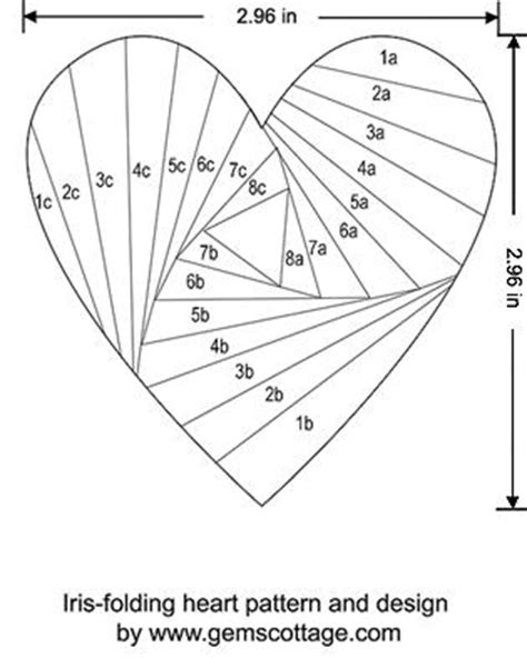 heart pattern origami iris folding instructions and video tutorial sting