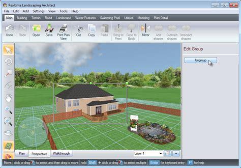 layout editor ungroup landscape design software tutorials