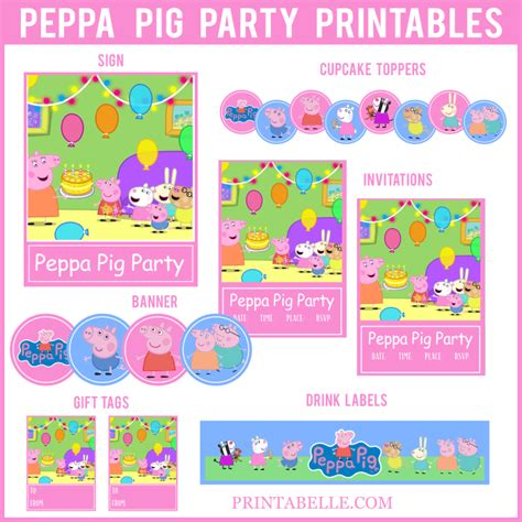 printable peppa pig party decorations peppa pig party printables party printables games