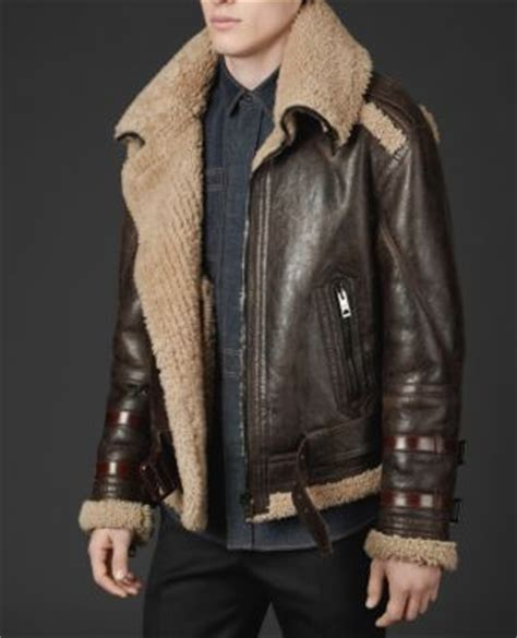 burberry shearling funnel neck aviator jacket pursuitist