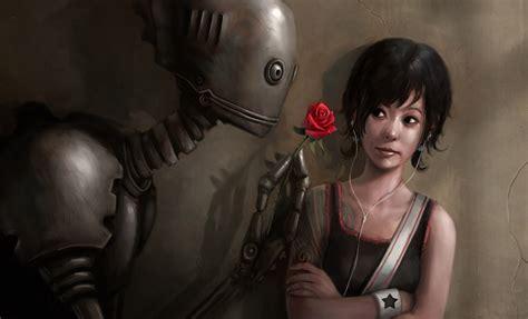 film robot love robot in love concept art fantasy