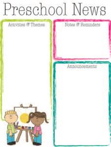 free newsletter templates for preschool preschool newsletter on preschool newsletter