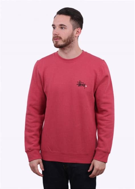 Hoodie Sweater Stussy 1 stussy basic logo sweater salmon triads mens from triads uk