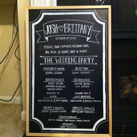 diy chalkboard frame wedding diy wedding program chalkboard channel your creativity