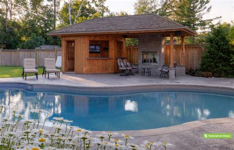 pool cabana ideas one of the highlights of this backyard is the natural
