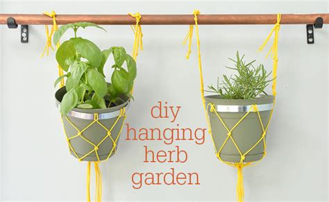diy hanging herb garden 7 quick ideas for outdoor decorating guest post