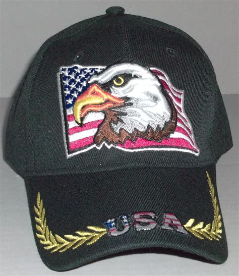 usa eagle american flag patriotic embroidered baseball cap