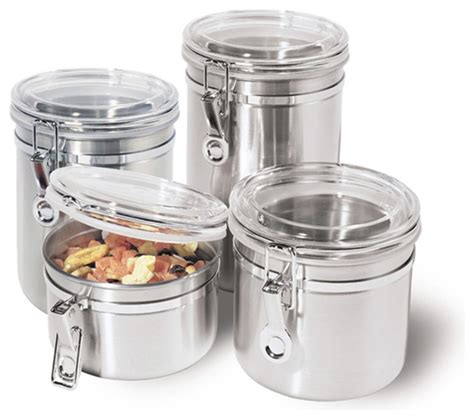 canisters for kitchen stainless steel kitchen storage container kitchen canisters and jars other metro by