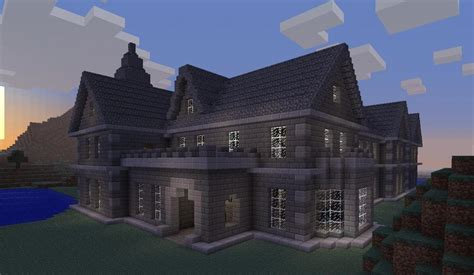 Minecraft House by Mount Falcon Manor House Minecraft Project