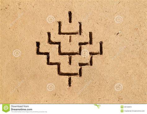 Desert House Plans bereber art symbols kasbah morocco stock illustration