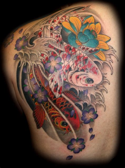 japanese coy fish tattoo designs koi color meaning image koi fish tattoos meaning