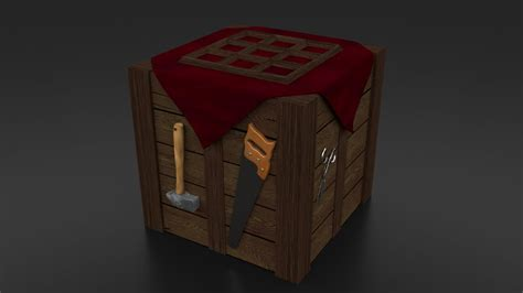 3d rendered realistic crafting table wallpaper other
