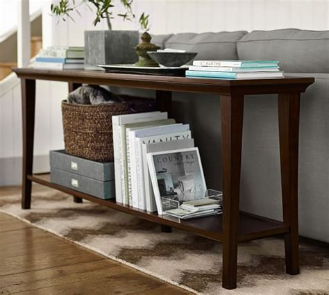 pottery barn sofa tables metropolitan console table pottery barn