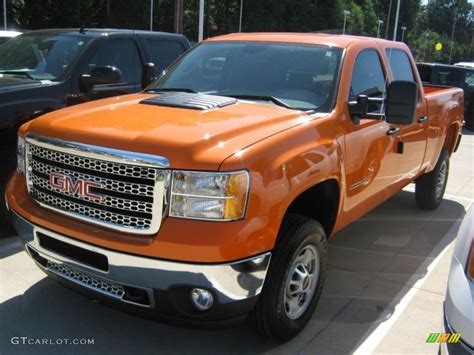 2011 fleet tangier orange gmc 2500hd work truck crew cab 4x4 37322222 photo 2
