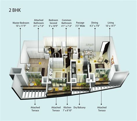 1120 Sq Ft 2 Bhk 2t Apartment For Sale In Siddhivinayak 892 Sq Ft 2 Bhk