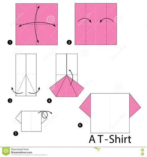 How To Make A Paper Shirt - step by step how to make origami a t shirt