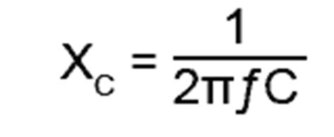 capacitor reactance equation series resonance