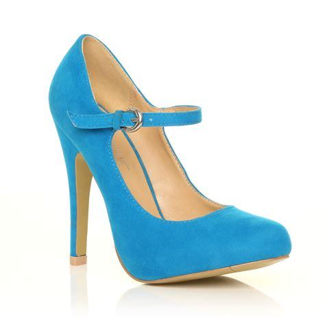 mischa turquoise faux suede stiletto high heel