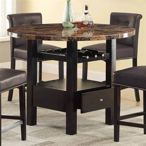 Marble Top Counter Height Dining Table Manhattan Faux Marble Counter Height Dining Table Top Espresso Wood Only Ebay