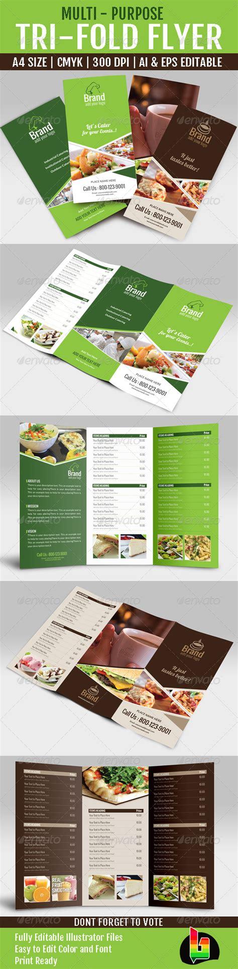multi fold card templates multi purpose tri fold menu card graphicriver