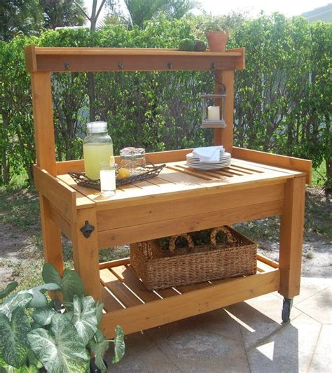 Outdoor Buffet Table by Custom Potting Table Outdoor Buffet