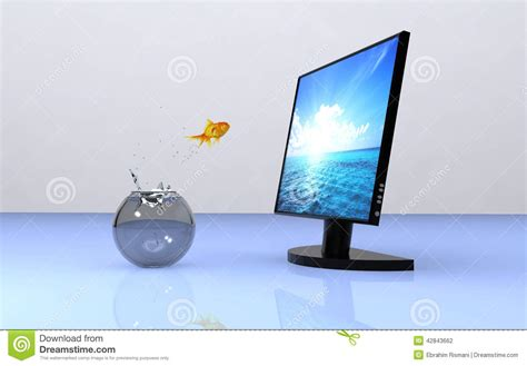 jump on computer freedom stock photo image 42843662