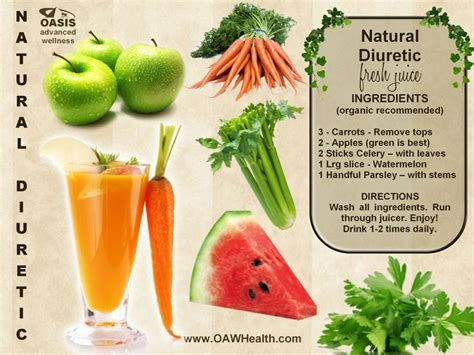Detox Without Diuretic by Diuretic Fresh Juice Recipe Health Wellness