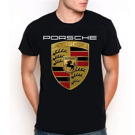 Porsche Shirts Sale by Fancy New Porsche Crest Logo Custom Black T Shirt Tee