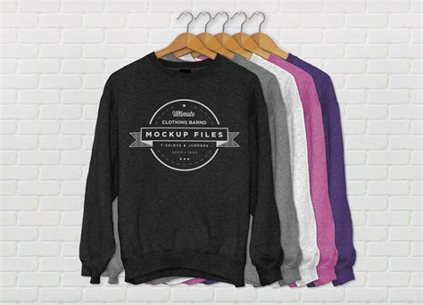 template sweater psd jumper mockup psd graphicburger
