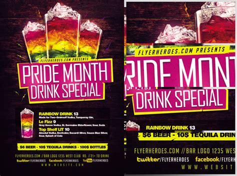 Pride Drink Special Flyer Template Flyerheroes Specials Flyer Template