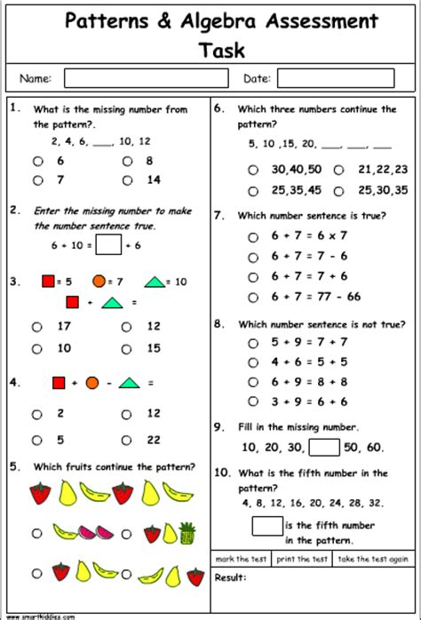 pattern and algebra year 2 patterns and algebra problem solving mathematics skills