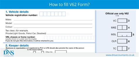 form  applying vc dns accountants