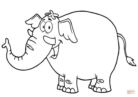 coloring pages of cartoon elephants happy cartoon elephant coloring page free printable