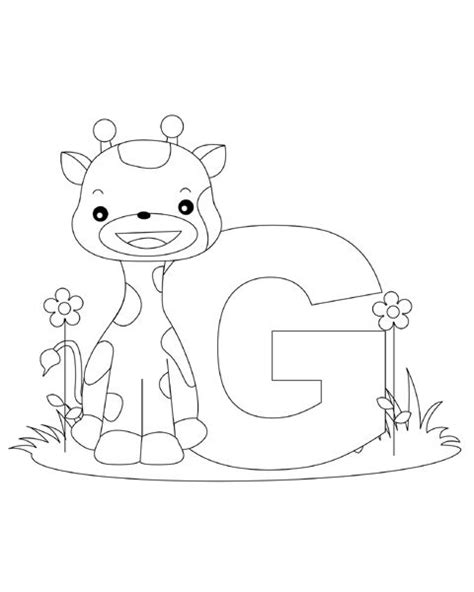 alphabet coloring pages for 2 year olds letter g is for giraffe for the two year old giraffe