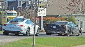 mid engine chevy corvette c8 spied on public roads autoblog
