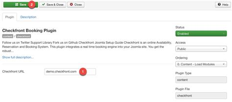 host url joomla plugin checkfront support