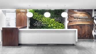 Reception Desk Materials Ofs Brands Green Wall Waterfall Materials Reception Desk Professional Reception Desks