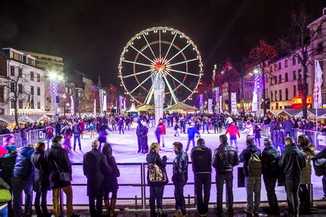 festival images european winter travel dreams brussels winter festival in