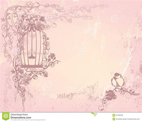 vintage rose garden stock vector image 42785200