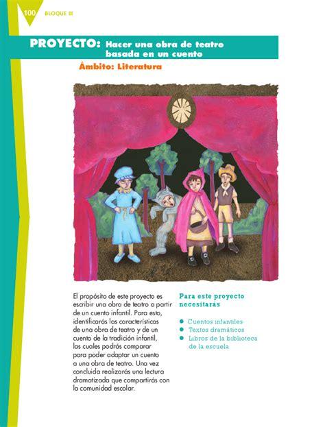 obra de teatro en espanol hacer una obra de teatro basada en un cuento sexto espa 241 ol