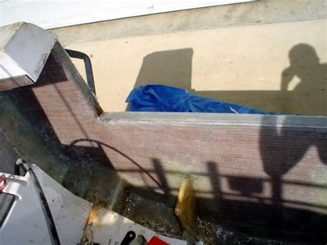 boat transom epoxy transom replacement with a plywood core a bateau2