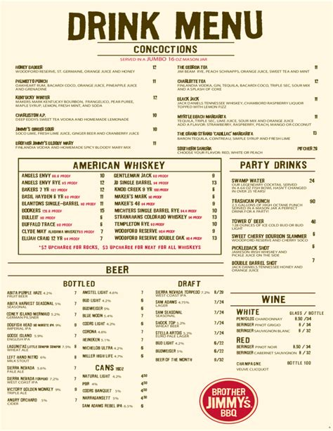 liquor menu template beverage menu pictures to pin on pinsdaddy