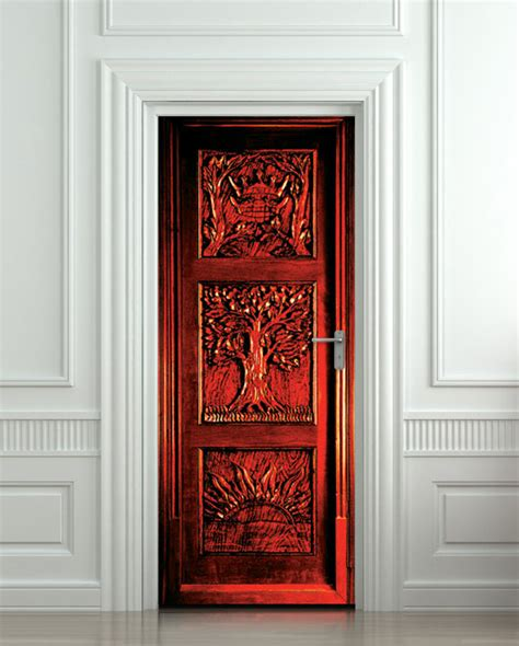 Closet Door Murals Door Sticker Narnia Wardrobe Gateway To Another World By