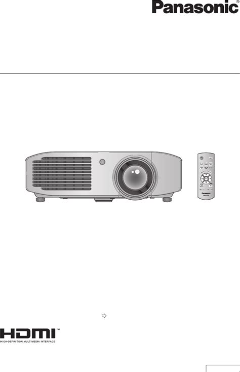 panasonic projector pt ar100u user guide manualsonline