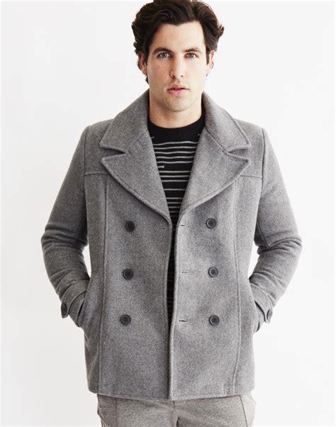 light grey peacoat mens mens light grey wool pea coat tradingbasis