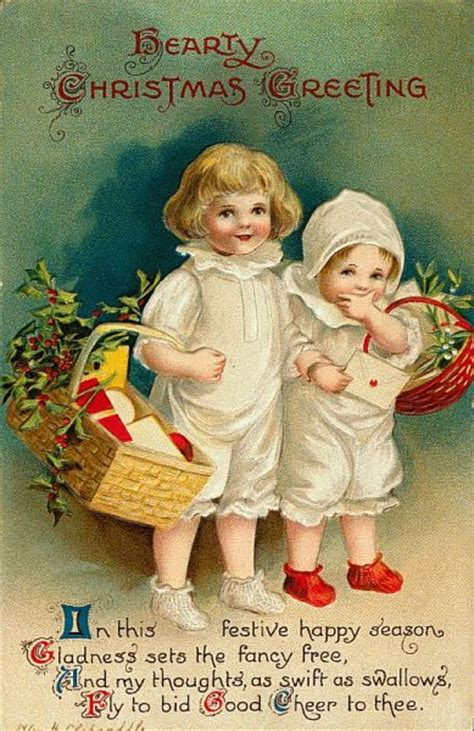 hearty christmas greeting  ellen clapsaddle