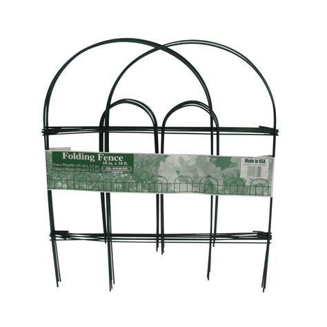 ft green folding metal wire garden fence